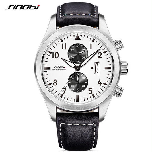 Sinobi メンズ クォーツ腕時計 クロノグラフ 防水