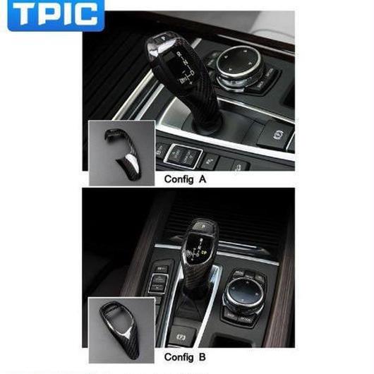 【送料無料!】カースタイリング用BMW f15 f16 3dカーボンファイバーステッカー装飾カバートリムストリップ用車制御ギアシフトパネルx5 x6【新品】