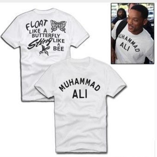 【海外からの注文多数!】モハメド・アリ Tシャツ Muhammad Ali ウィル・スミスも着用♪
