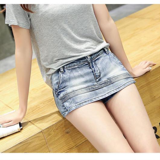 セクシーなレディースショートパンツ スカート ショートジーンズ