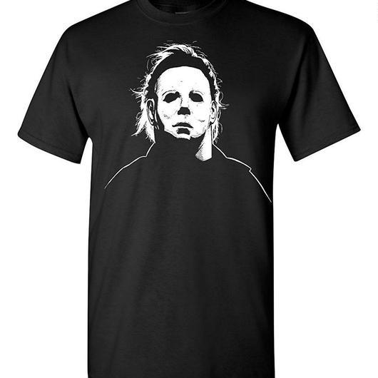ハロウィーン マイケルマイヤーズ (Halloween Michael Myers)ソリッドホラー映画ハロウィンマスクTシャツ 3