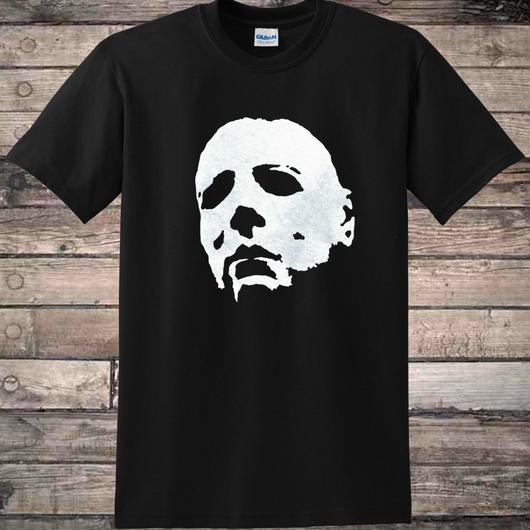 ハロウィーン マイケルマイヤーズ (Halloween Michael Myers)ハロウィンマスク ホラー スリムフィット Tシャツ100%コットン