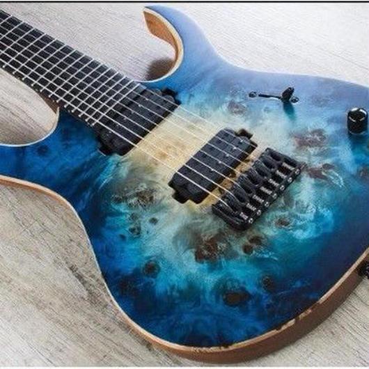 エレキギター カスタムブルー 7弦 Jovins