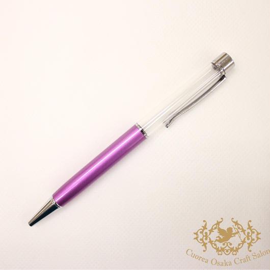 SALE ハーバリウムボールペン単体 ライトパープル