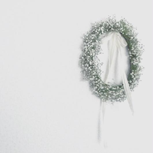 「花かんむりの会」...かすみ草の花かんむり... 午前の部