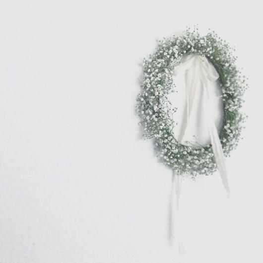 「花かんむりの会」...かすみ草の花かんむり... 午後の部