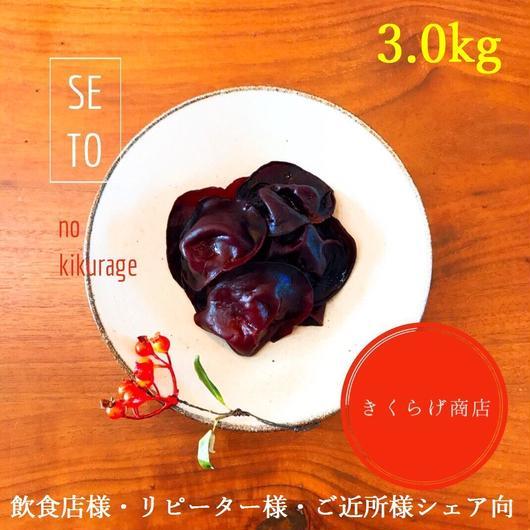 【 黒きくらげ生 3.0kg 冷凍】純国産・無添加・無農薬 / 期間限定お試し価格 / クール便送料無料!