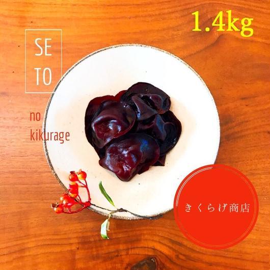 【 黒きくらげ生 1.4kg 冷凍】純国産・無添加・無農薬 / 期間限定お試し価格 / クール便送料無料!