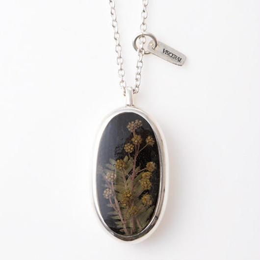Herbarium Necklace・Mimosa・(Black)