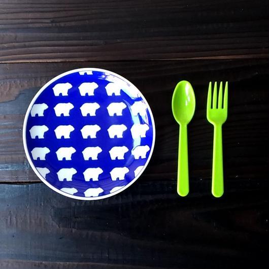 波佐見焼  15.5cmプレート(北欧風アニマル ーパスタ皿サイズ) - クマ【Made in Japan 陶磁器プレート】
