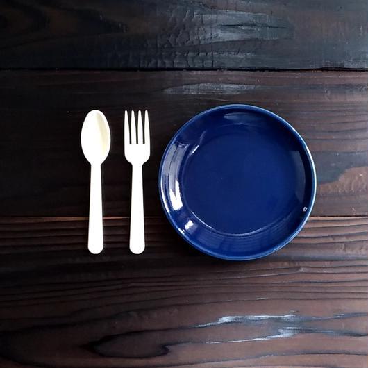 波佐見焼 15cmプレート(ケーキ皿 - サイズ) - ネイビー 【Made in Japan 陶磁器プレート】