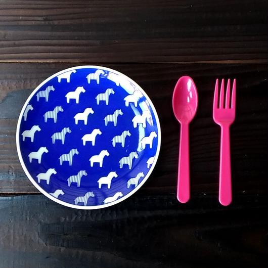 波佐見焼  15.5cmプレート(北欧風アニマル ーパスタ皿サイズ) - ゼブラ【Made in Japan 陶磁器プレート】