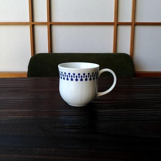 美濃焼  150cc ティーカップ 千成ひょうたんを北欧風に染付【Made in Japan 陶磁器ティーカップ】