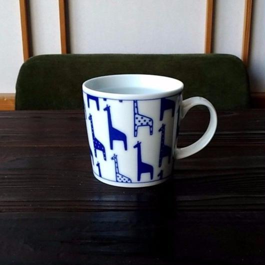 波佐見焼 300ccマグカップ(北欧風アニマル)- キリン- 【Made in Japan 陶磁器マグ】