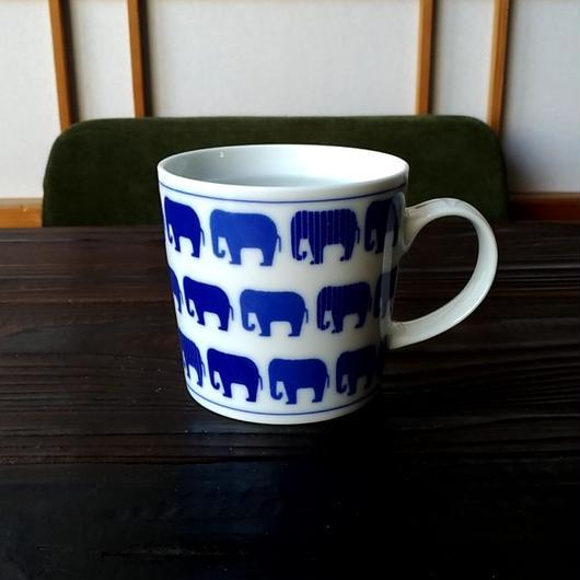 波佐見焼 300ccマグカップ(北欧風アニマル)- ゾウ- 【Made in Japan 陶磁器マグ】
