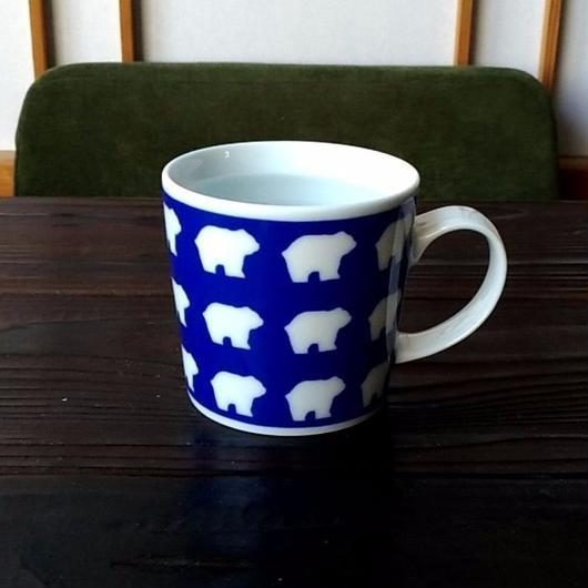 波佐見焼 300ccマグカップ(北欧風アニマル)- クマ- 【Made in Japan 陶磁器マグ】