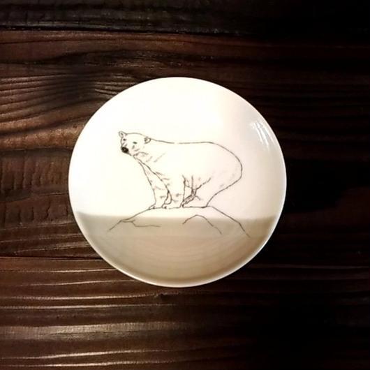 美濃焼  13cmプレート(リアルあにまる ー ケーキ皿 or ソーサーサイズ) - シロクマ【Made in Japan 陶磁器プレート】
