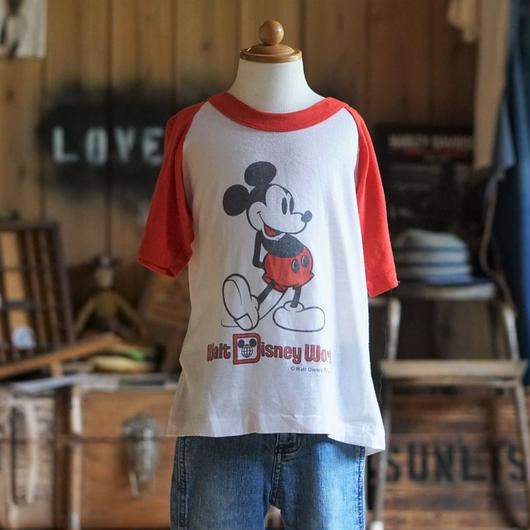 80sヴィンテージディズニーラグランTシャツ