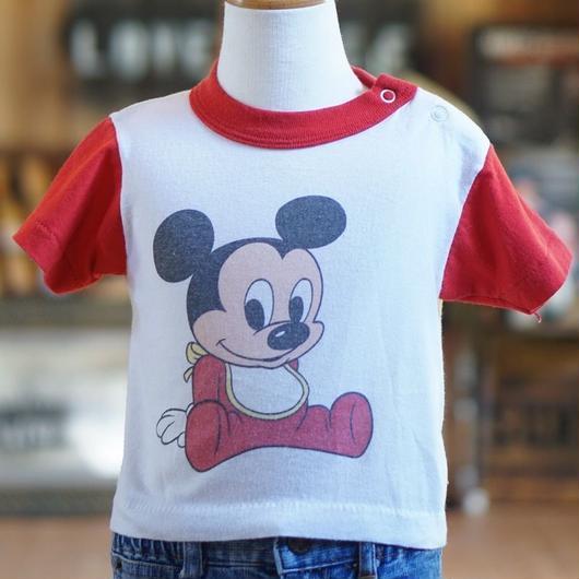 80sディズニーベビーミッキーマウスTシャツ