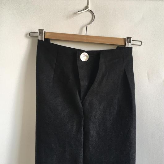 【セミオーダー】リネンワイドパンツ ブラック