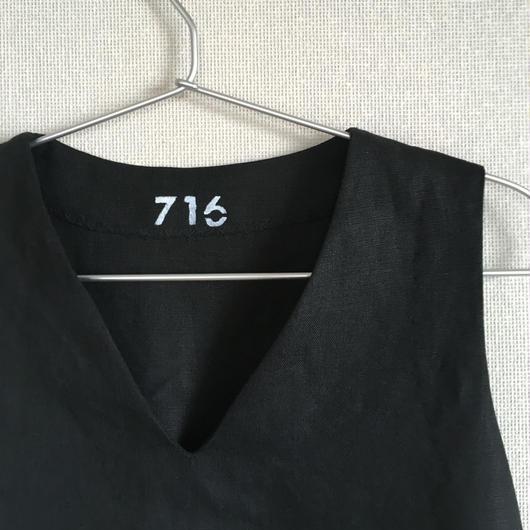 【受注商品】ブラックワンピース リネン