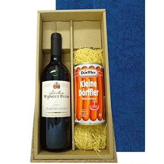 ドイツの赤ワインとソーセージのセット ドルンフェルダー 2014年 750ml フランクフルトソーセージ      5本入り