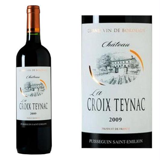 フランス、ピュイスガン・サン・テミリオン赤ワイン「シャトー・ラ・クロワ・テナック」2009年、750ml