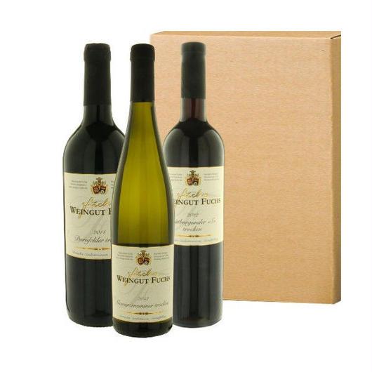 ドイツワインセット 赤ワイン2本とドイツ白ワインを代表する「ゲヴュルツトラミネール」1本