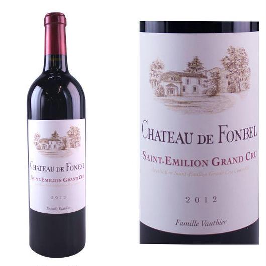 フランス、ボルドー、サン・テミリオン、グランクリュ 「シャトー・フォンベル」2012年 赤ワイン、750ml
