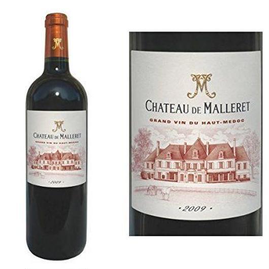 金賞受賞ボルドー辛口赤ワイン 人気のヴィンテージ2009年  グランヴァン 「シャトー・ド・マレレ2009年」