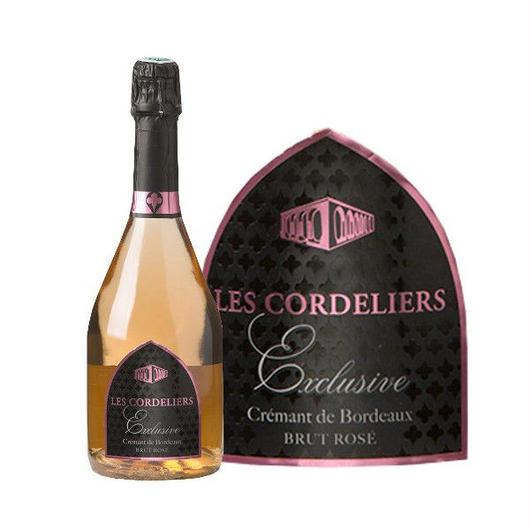 フランスのロゼスパークリングワイン  ル・コードリエ 「エクスクルーシブ・ドライ・ロゼ」とペアシャンパングラスセット