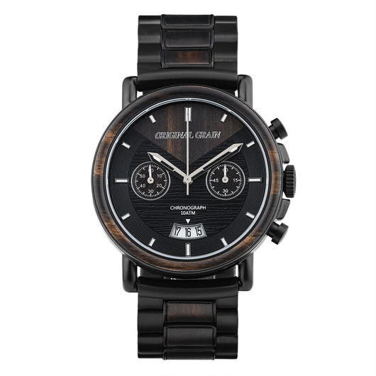 The Alterra Chronograph - AVIATOR (Ebony/Matte Black)
