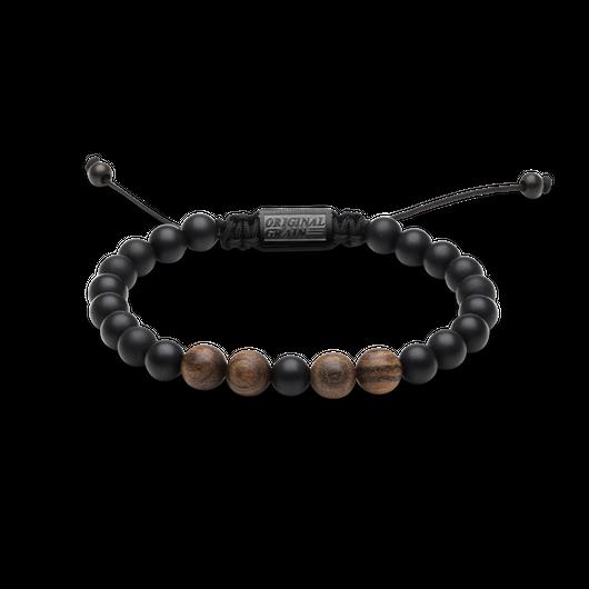 Macrame Bracelet 8mm - Ebony/Onyx