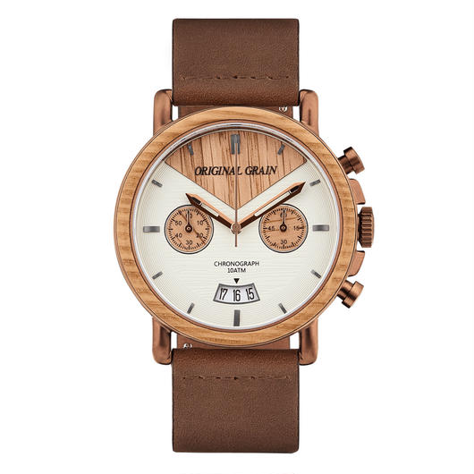 The Alterra Chronograph - WHISKEY LEATHER (Whiskey/Espresso/Dist. Brown Italian Leather Band)