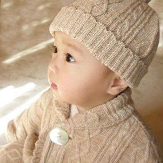 オーガニックコットンベビーニット帽