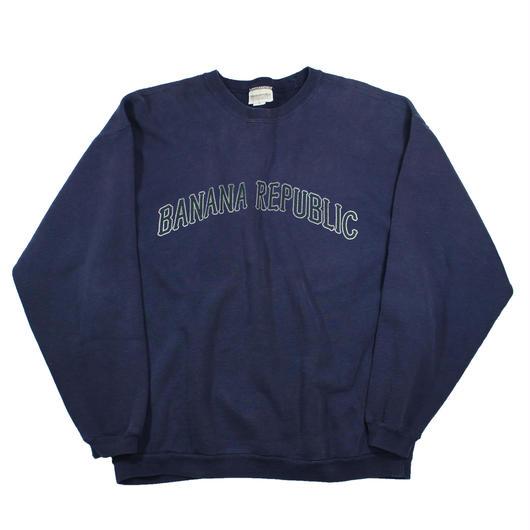 1990s BANANA REPUBLIC logo sweat shirts