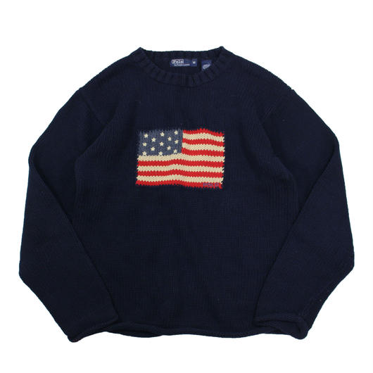 Boys M / POLO by Ralph Lauren stars&stripes cotton knit
