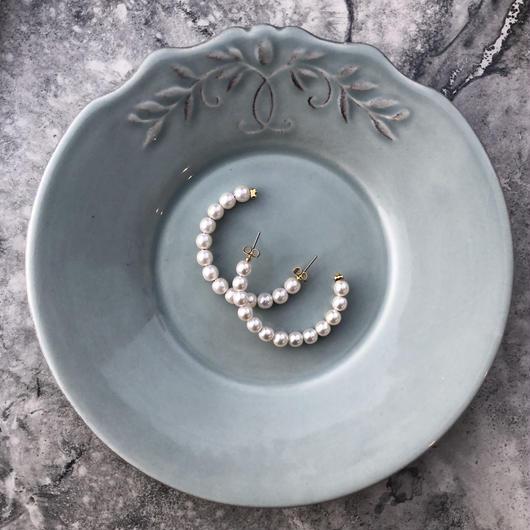 pearl  hoop piece