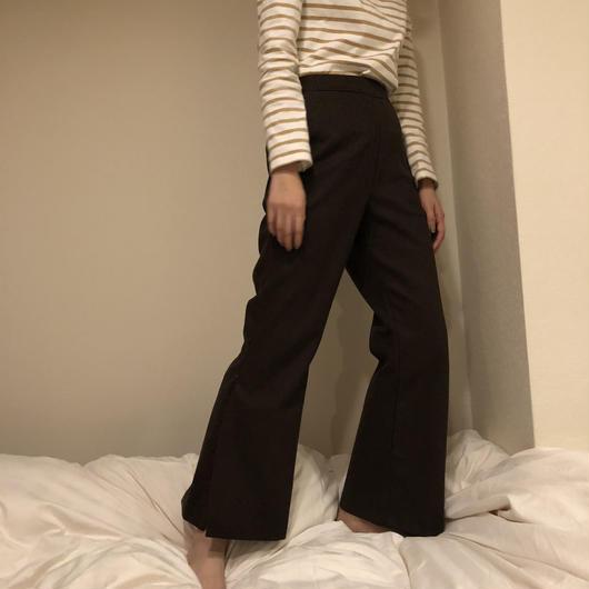 brown slit pants