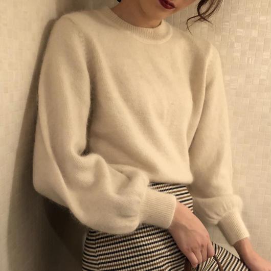mohair  white  knit