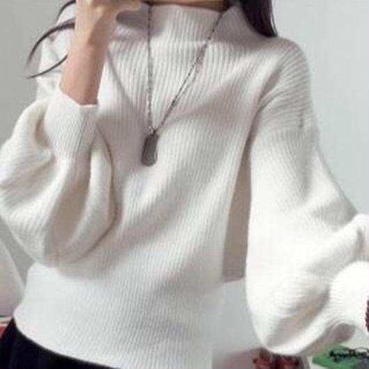 ハイネック ニット セーター