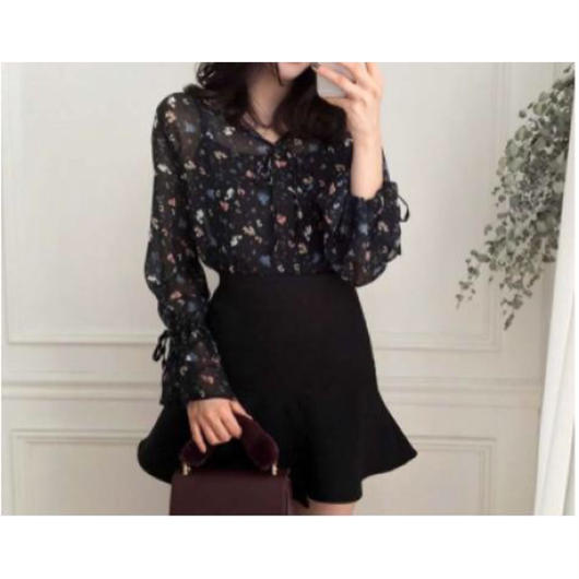 Retro Flower Blouse