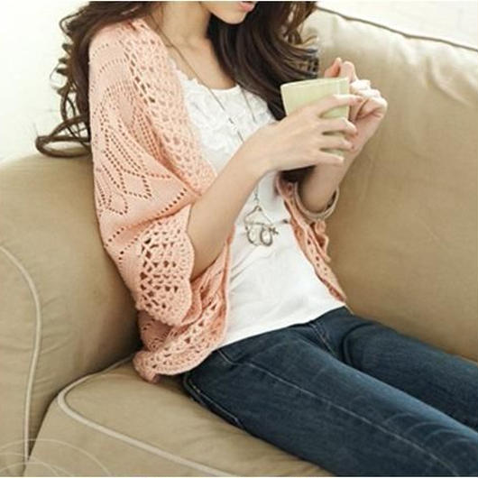 7sleeve knit cardigan