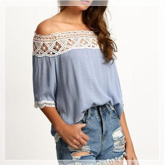 Off shoulder Race Blouse