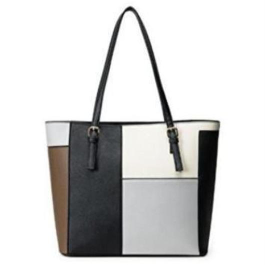 crazy pattern leather tote bag