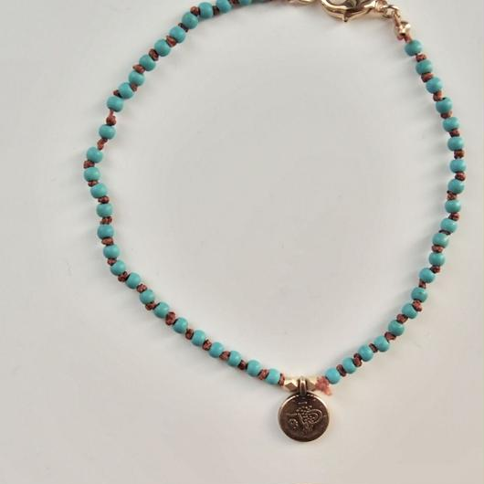 turquoise coin BRACELET