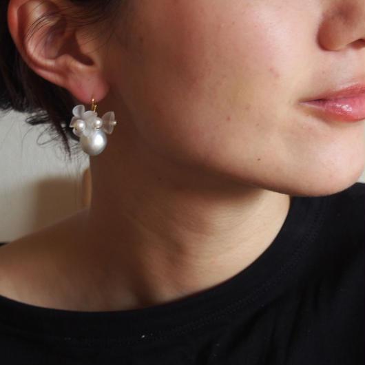 white flower pierces
