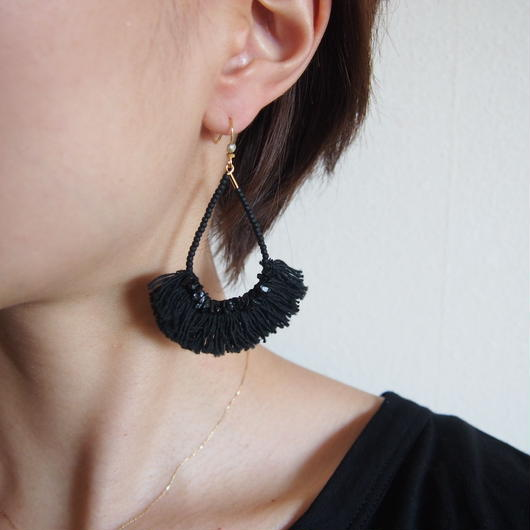 tourmaline black fringe