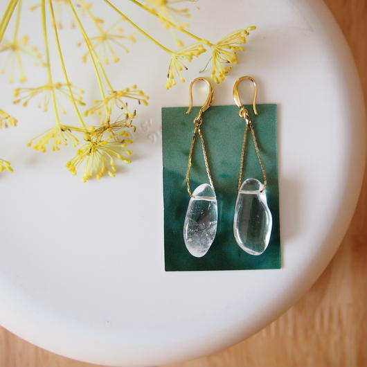 quartz pierces/earrings