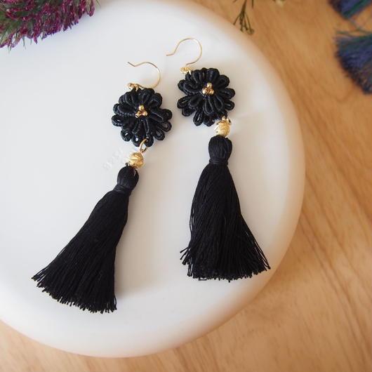 black tassel pierces